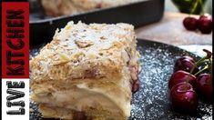 Αφράτο και Πεντανόστιμο Μιλφέιγ | The best  Mille-feuille ASMR sounds Greek Desserts, Greek Recipes, Recipe Boards, Lasagna, The Best, French Toast, Ice Cream, Tasty, Sweets