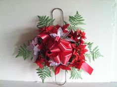 Ex small 2 prong Christmas headstone saddle by GuardianFlowers, $14.99
