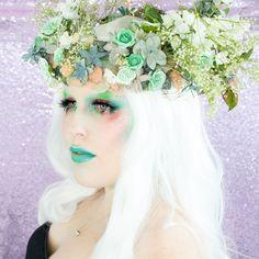 River Mermaid Halloween Makeup Tutorial   http://www.rebeccashoresmua.com/blog/river-mermaid-halloween-makeup-tutorial