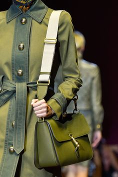 The 50 Best Bags From Fashion Month | StyleCaster MILITARY INSPIRED GUCCI