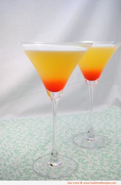 Bikini Martini Makes 2 large martinis. 4 oz coconut rum 3 oz vodka 4 oz pineapple juice 2 dashes grenadine Directions: Combine rum, vodka and pineapple juice in a drink shaker. Shake firmly until frothy. Pour in a martini glass, add a touch of grenadine. Fancy Drinks, Cocktail Drinks, Malibu Drinks, Martini Recipes, Cocktail Recipes, Bikini Martini Recipe, Drink Recipes, Refreshing Drinks, Summer Drinks