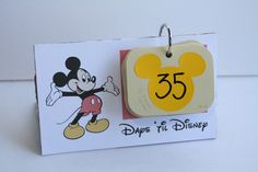 DIY Countdown to Disney using Mickey Paint Samples - perfect countdown for our disney vaca after cruise!
