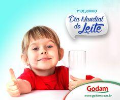 Hoje é dia mundial do leite!!! Acesse nosso site: www.godam.com.br