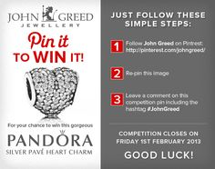 this beautiful Pandora charm from John Greed Jewellers