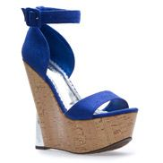 Loving these. A great bold color and height. Pair them with a wide leg pant & silky blouse and it's on!  :)