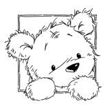 Teddy bear looking out window Cute Coloring Pages, Adult Coloring Pages, Coloring Sheets, Coloring Books, Line Drawing, Painting & Drawing, Tatty Teddy, Teddy Bear, Image Stamp