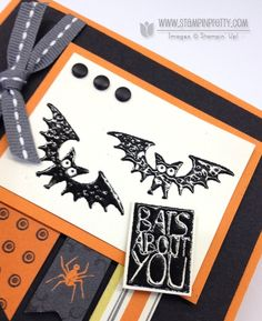 halloween hello stampin up | Stampin up stampinup halloween hello envelope punch board liner ...