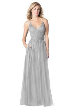 Bari Jay Bridesmaids   Style: BC-1604 — Spaghetti strap V-neck dress with pleated bodice , waist sash and pockets.  #BridesmaidsDress #Bridesmaids #WeddingStyle #WeddingFashion #WinterWedding