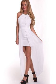 Robes Longues Blanc Ride Party Robe – Modebuy.com