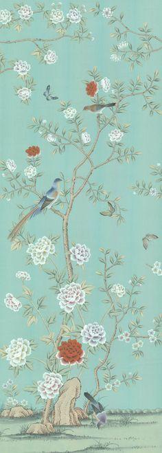 Chinoiserie Handpainted Silk Wallpaper: Grand View Garden | Home & Garden, Home Décor, Other Home Décor | eBay!