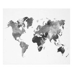Mapa watercollor map decor and template pinterest dorm room design 42 world map greyscale fleece blanket gumiabroncs Choice Image