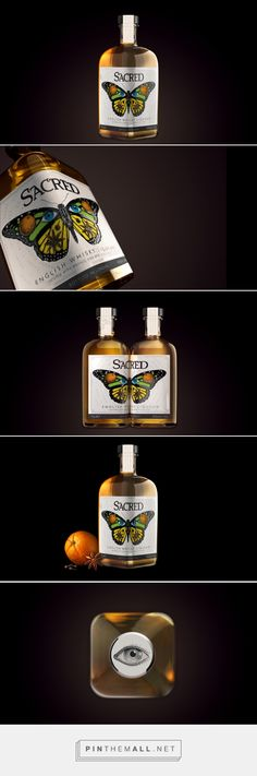 Sacred Spirits Company's English Whisky Liqueur -  Packaging of the World - Creative Package Design Gallery - http://www.packagingoftheworld.com/2017/05/sacred-spirits-companys-english-whisky.html
