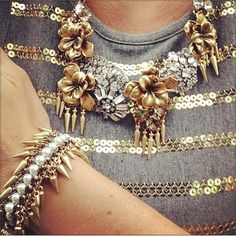 This bling + glitter combo is so fun! Thanks for sharing, Sarah Beth Christoph! | Stella & Dot