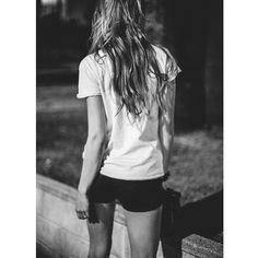 Heels back on  oh yes it's Friday! @ragdoll_la Vintage Tee & @erronewyork Leather Shorts #imaragdoll