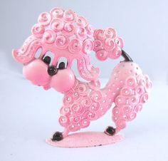 Vintage Pink Poodle Earring Holder