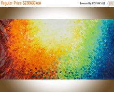 Extra Large wall art 60Colourful abstract art red yellow
