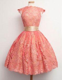 Modern Bateau Cap Sleeves Lace Coral Short Homecoming Dress