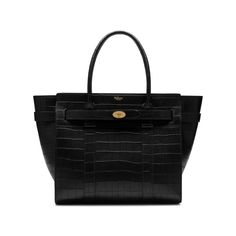 0f6394b8a4 Shop the Zipped Bayswater in Black Deep Embossed Croc Print Leather at  Mulberry.com.