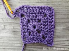 Fiber Flux...Adventures in Stitching: How to Crochet a Solid Granny Square