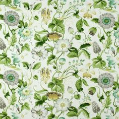 Floral Fabrics | Greenhouse Fabrics Floral Fabric, Floral Prints, Greenhouse Fabrics, Fabulous Fabrics, Pure White, Deco, Pure Products, Pattern, Anna