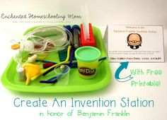 Celebrate creativity and inventions with a hands-on learning activity themed to Benjamin Franklin.