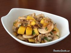 Ceviche de champiñones tropical #RecetasGratis #Recetas #RecetasFáciles #ComidaVegana #ProteínaVegetal #ComidaSana #GoVeg #ComidaVegetariana #Ceviche #Cebiche