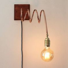 SPIRAL_2: copper tube wall lamp by Ideesign – upcycleDZINE #upcycle #design #copper #lamp #interior #home