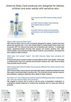Arbonne Baby Care Products designed for Babies & Adults with Sensitive Skin