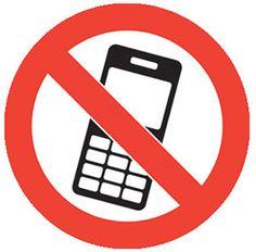 no mobile phones graphic floor marker