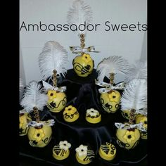 Bumblebee Theme Candy Apples And Oreos