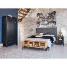 Flurmöbel aus Tannenholz und schwarzes Metall | Maisons du Monde