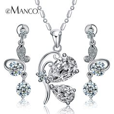 Full drill Cubic zirconia luxury copper earrings/butterfly pendant necklaces statement jewelry sets eManco 2014 new BS00015 - http://www.aliexpress.com/item/Full-drill-Cubic-zirconia-luxury-copper-earrings-butterfly-pendant-necklaces-statement-jewelry-sets-eManco-2014-new-BS00015/2040864939.html