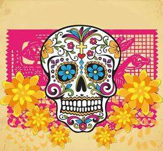 Lindo el arte mexicano de las calaveras y el papel picado.