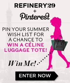 Pin Your Way To Win A Shiny New Céline Bag! (go check out how to enter♥) #29summerstyle