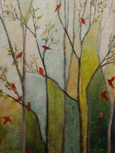 Winged Choir (40 x 30)  Sarah Goodnough