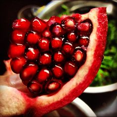 Pomegranate - delicious to eat if you learn how to peel them!