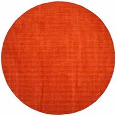@Overstock.com - Hand-tufted Pulse Orange Wool Rug (8' Round) - Hand-tufted with beautiful and durable wool, this rug features a lovely stripe pattern. A rich tone of orange highlights this floor rug. $209  http://www.overstock.com/Home-Garden/Hand-tufted-Pulse-Orange-Wool-Rug-8-Round/5550817/product.html?CID=214117 $205.99