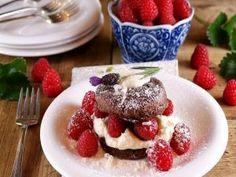 Torta de chocolate con frambuesas
