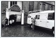 De IKON-radio maakt opnames van een kerkdienst in de hervormde St. Maartenskerk te Tiel, Harry Meijer, 1983