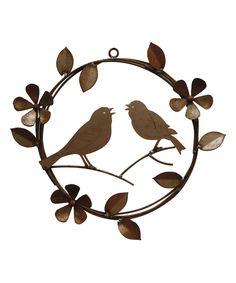 Singing Birds Flower Wreath