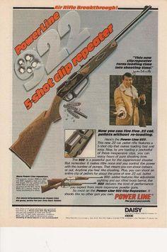 1978 Powerline 922 Air Rifle Vintage Print Ad John Unitas 5 shot repeater