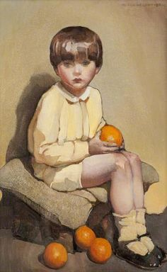 Norah Neilson Gray, Little Boy with Oranges