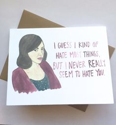 Parks and Rec Card// April Ludgate Love by averycampbellART on Etsy https:/