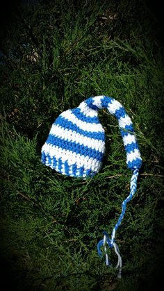 STOCKING hat - cap - with tail - holiday photo prop - Christmas - handmade crochet -- Check out this great image  : Handmade Gifts