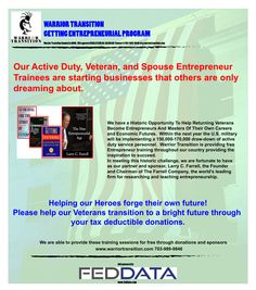 www.warriortransition.com getting entrepreneurial program