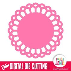 Use this cute doily design as accents and background embellishments on scrapbook pages or cards. Digital die cutting files are designed specifically with cutting machines in mind. Use them with programs such as your Silhouette, Cricut (SCAL/MTC), Pazzles, Klick-n-Kut, Wishblade or any cutting machine that can use the following file formats: SVG, PDF, and DXF.