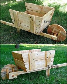 Have a look at the charming appearance of this pallet garden planter art. This recycled wooden pallets creation is not only different and unique in appearance but also an easy craft to construct for the renovation of your simple-looking garden area. Wooden Pallet Crafts, Diy Pallet Projects, Wooden Pallets, Wood Crafts, Wood Projects, Pallet Ideas, Pallet Wood, Recycled Pallets, Recycled Wood