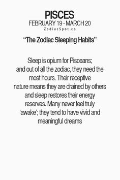 What is your Zodiac sign's sleeping habit? Pisces Traits, Astrology Pisces, Zodiac Signs Pisces, Pisces Quotes, My Zodiac Sign, Zodiac Facts, Scorpio, Aquarius, Pisces Girl