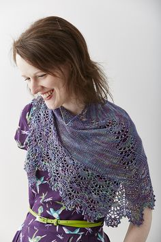 Ravelry: Wild Poppies shawl pattern by Charlotte Walford