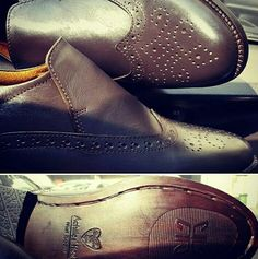 Play safe with handcrafted winter wardrobe delight. Latest from #achillesheel studio is this coffee bean coloured #slipon #brogue #handcrafted #customcraftwithAH #ilovemymen #NlovewithAH